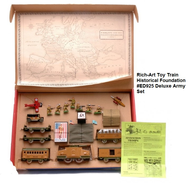 Rich-Art 'O' gauge #ED925 Deluxe Military Train Set made for the Toy Train Historical Foundation