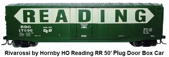 Rivarossi by Hornby HO scale Reading RR 50' Plug Door Box Car HR6368 #17068