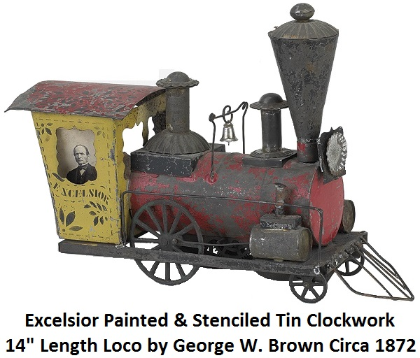 clockwork Excelsior, circa 1872, by George Brown