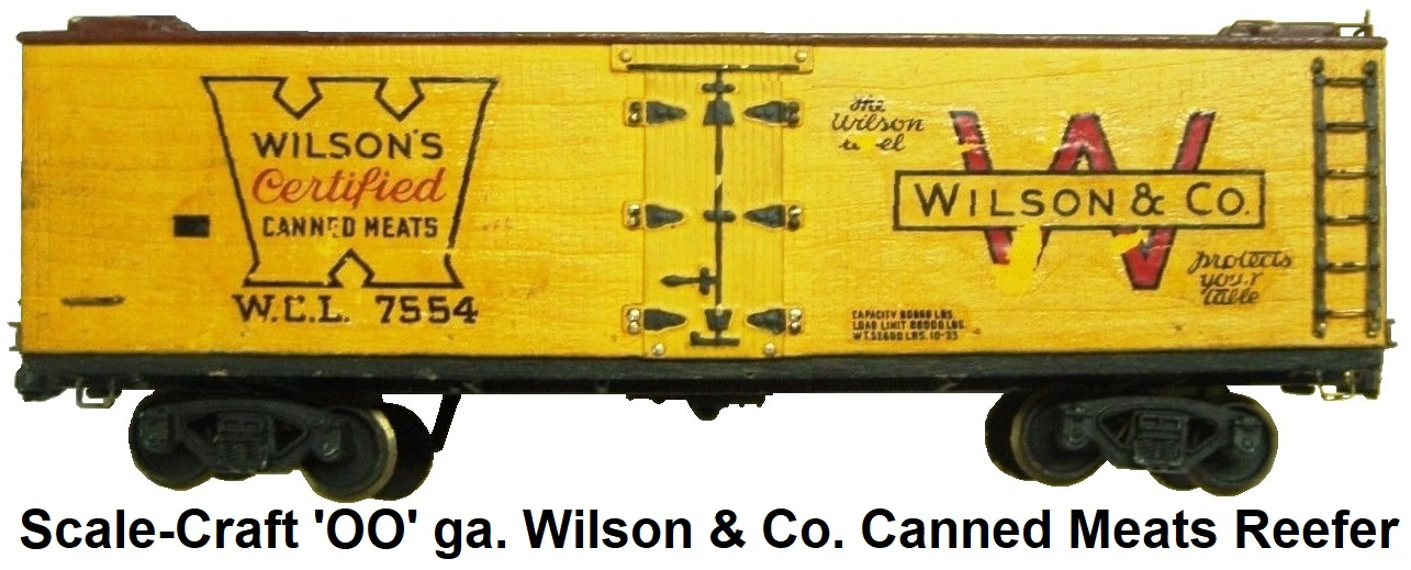 Scale-Craft 'OO' Wilson & Co. Canned Meats Reefer