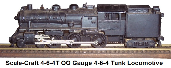 Scale-craft 4-6-4T with 24V DC motor OO Gauge 4-6-4 Tank Locomotive