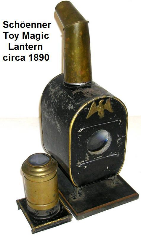 Schöenner toy magic lantern from 1890