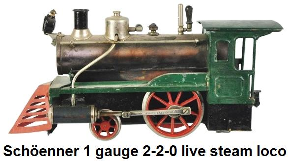 Schöenner 1 gauge 2-2-0 Live Steam Train Engine