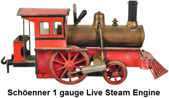 Schöenner 1 gauge Live Steam Train Engine