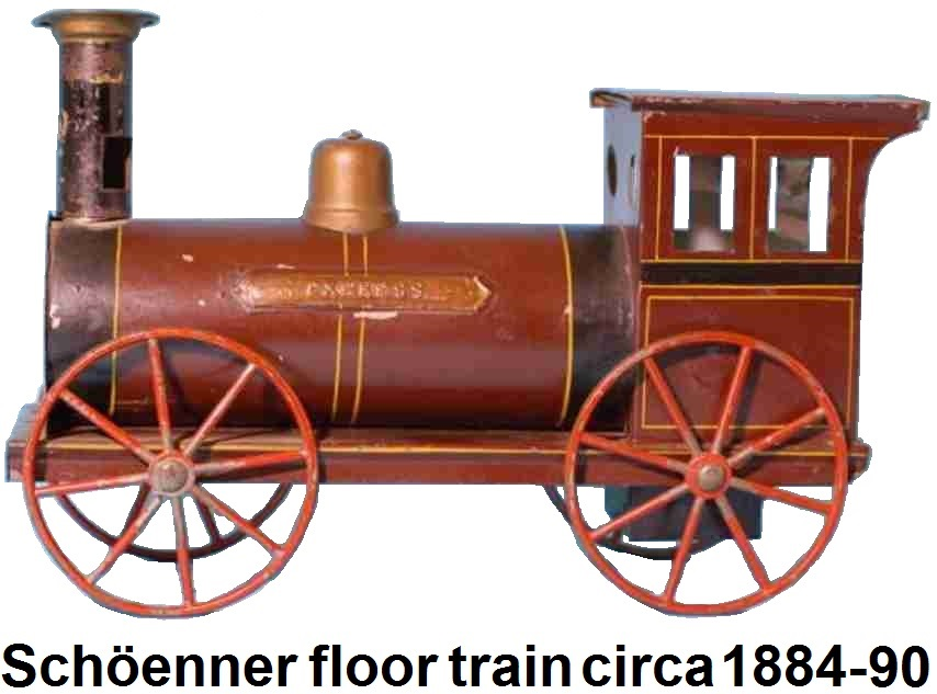 Schöenner early floor train circa 1884-90 27 inches