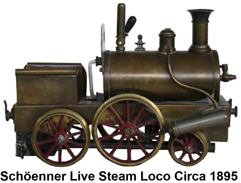 Schöenner live steam locomotive circa 1895