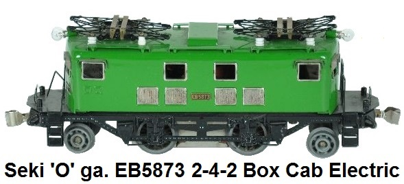 Seki 'O' gauge EB5873 Pre-war 2-4-2 Box Cab Electric Locomotive