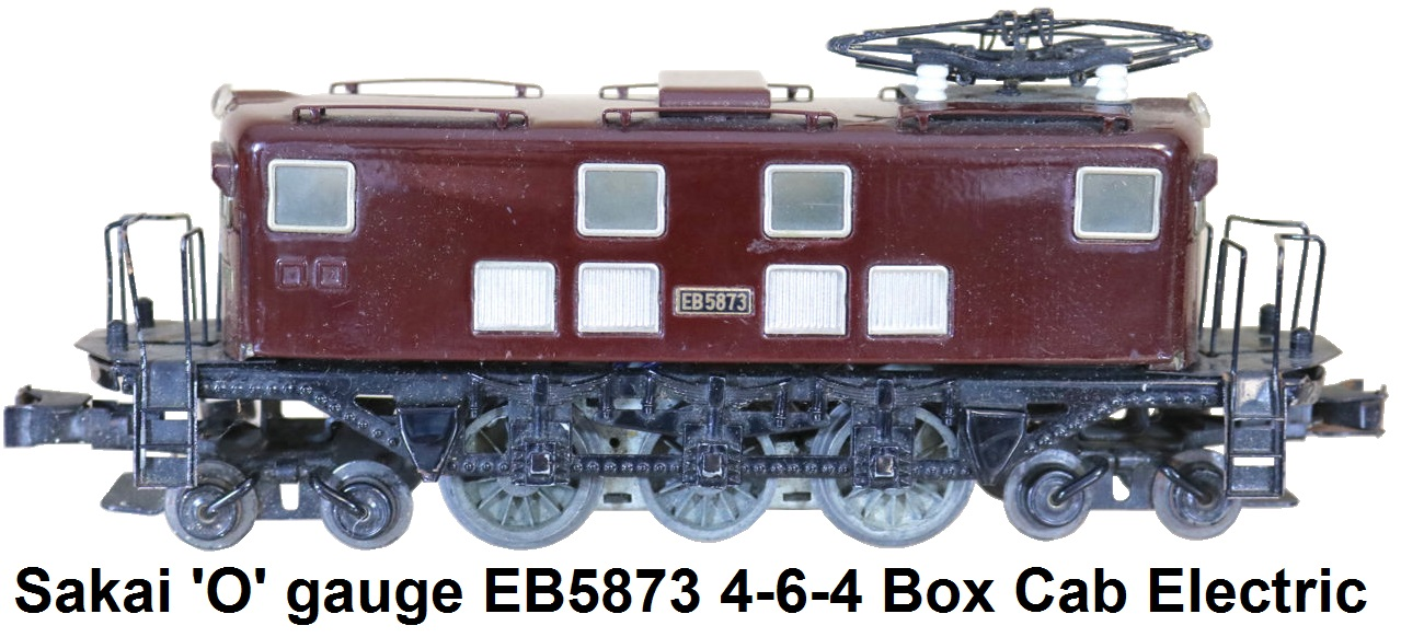 Seki 'O' gauge EB5873 4-6-4 Box Cab Electric locomotive