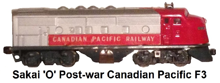 Sakai 'O' gauge Post-war Canadian Pacific F3 Diesel Locomotive A unit