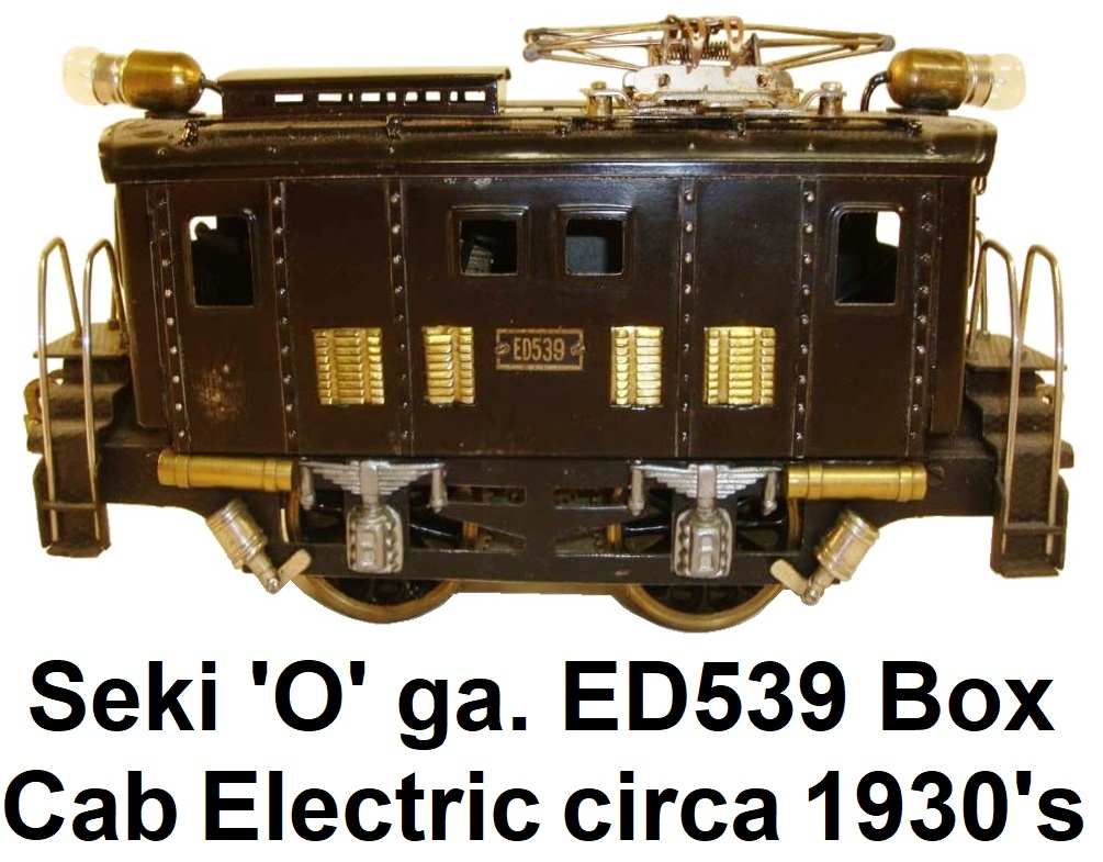 Seki 'O' gauge ED539 Box cab 0-4-0 Electric