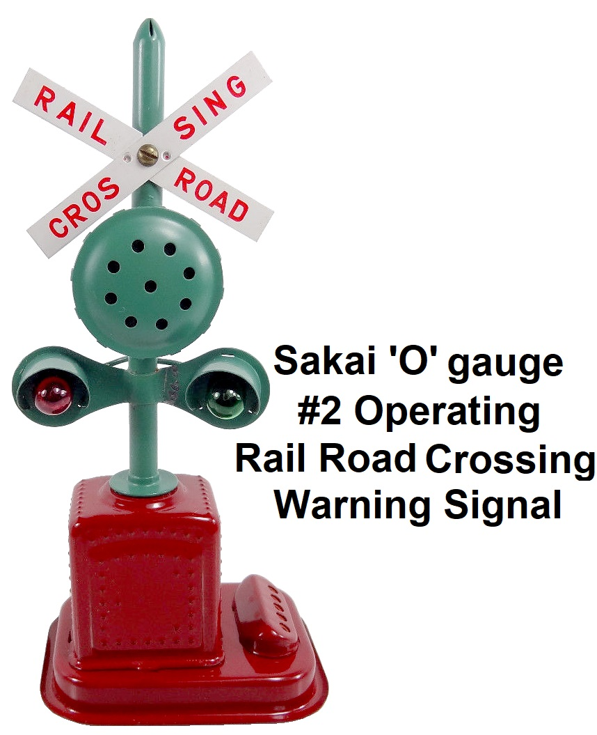 Sakai No. 2 operating rail road crossing warning signal