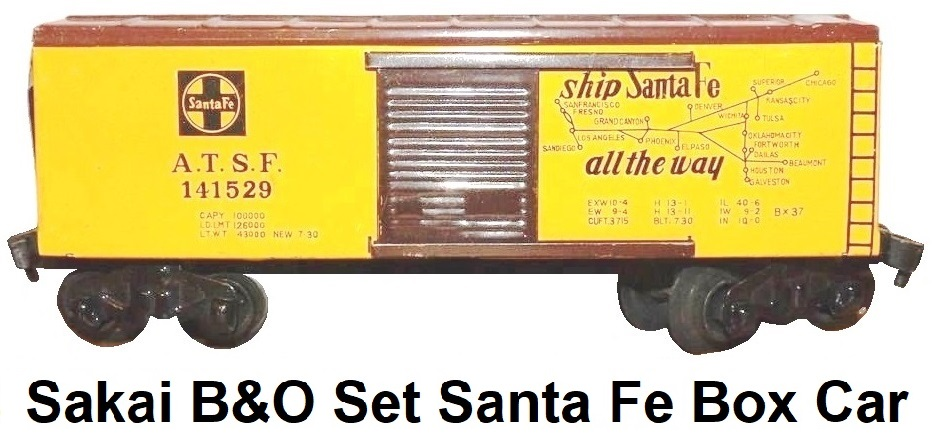 Sakai B&O Battery Powered Set ATSF box car