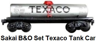 Sakai Battery powered B & O Set Texaco Tank Car