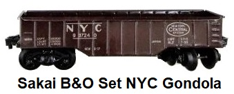 Sakai Battery powered B & O Set NYC Gondola