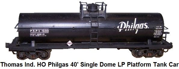 Thomas Industries HO gauge Philgas 40' Single Dome LP Platform Tank Car #15001