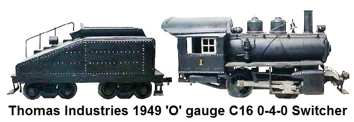Thomas Industries C16 class 0-4-0 switcher circa 1949