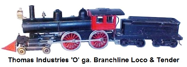 Thomas Industries 'O' gauge 4-4-0 branchline loco & tender