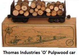 Thomas Industries 'O' gauge Pulpwood car