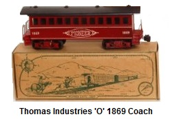 Thomas Industries Pioneer Set 'O' gauge #1869 Coach