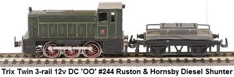 Trix Twin Railways 'OO' gauge Trix Twin 3-rail 12v DC #244 Ruston & Hornsby Diesel Shunter
