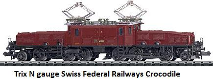 Trix N gauge Swiss Federal Railways Crocodile class Ce 6 8 III 12154