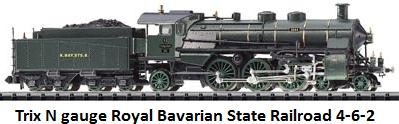 Trix N gauge Royal Bavarian State Railroad class S 3 6, 4-6-2 T12226