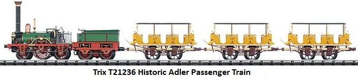 Trix N gauge T21236 Historic Adler Passenger Train
