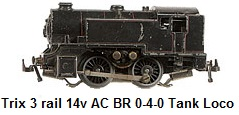Trix 3-rail 14v AC British Rail Steam Loco black 0-4-0 Tank
