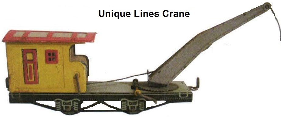 Unique Lines tinplate lithographed 'O' gauge crane - modeled using Dorfan dies