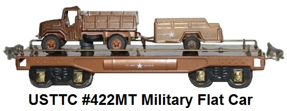 USTTC #422MT Military Flat Car with load made 1975-77