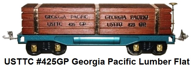 USTTC #425GP Georgia Pacific flat car, with lumber load made 1977