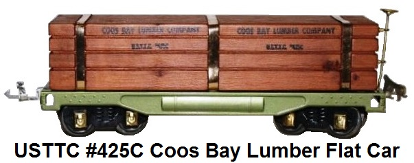 USTTC #425C Coos Bay Lumber Company flat car, with lumber load made 1975-77
