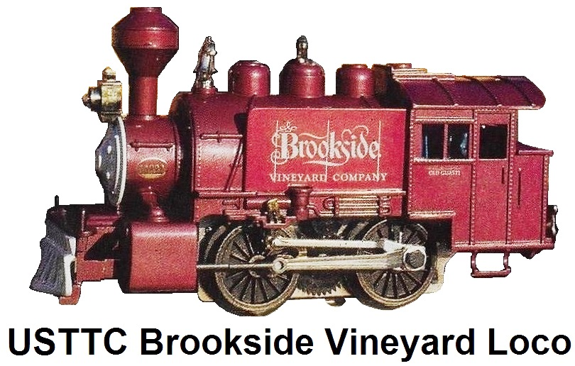 USTTC Brookside Vineyard Company 0-4-0T Steam Loco refinished from Lionel #8209 circa 1976-77