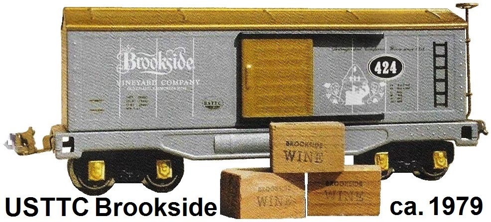 USTTC #424 Brookside Vineyard Company Champagne box car made 1979
