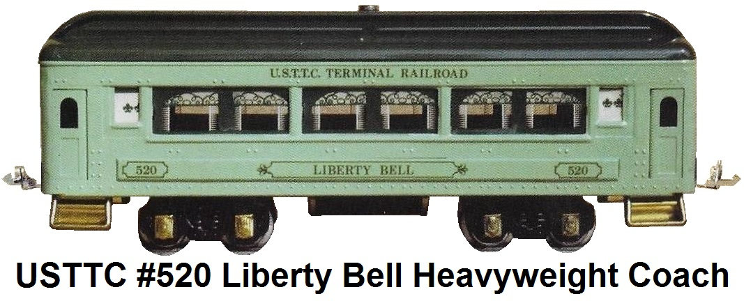 USTTC #520 Terminal Railroad Liberty Bell Heavyweight Coach