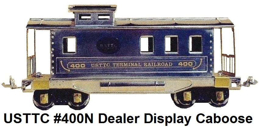 USTTC #400N Nickel Plated Special caboose for dealer display made 1977