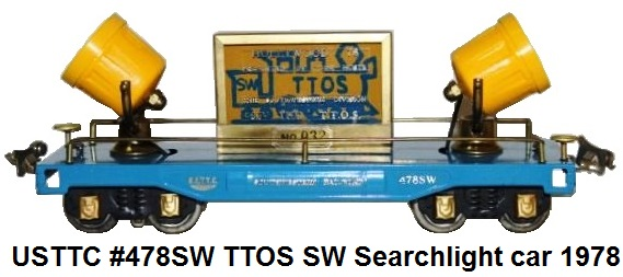 USTTC #478SW TTOS SW Division Searchlight car made 1978