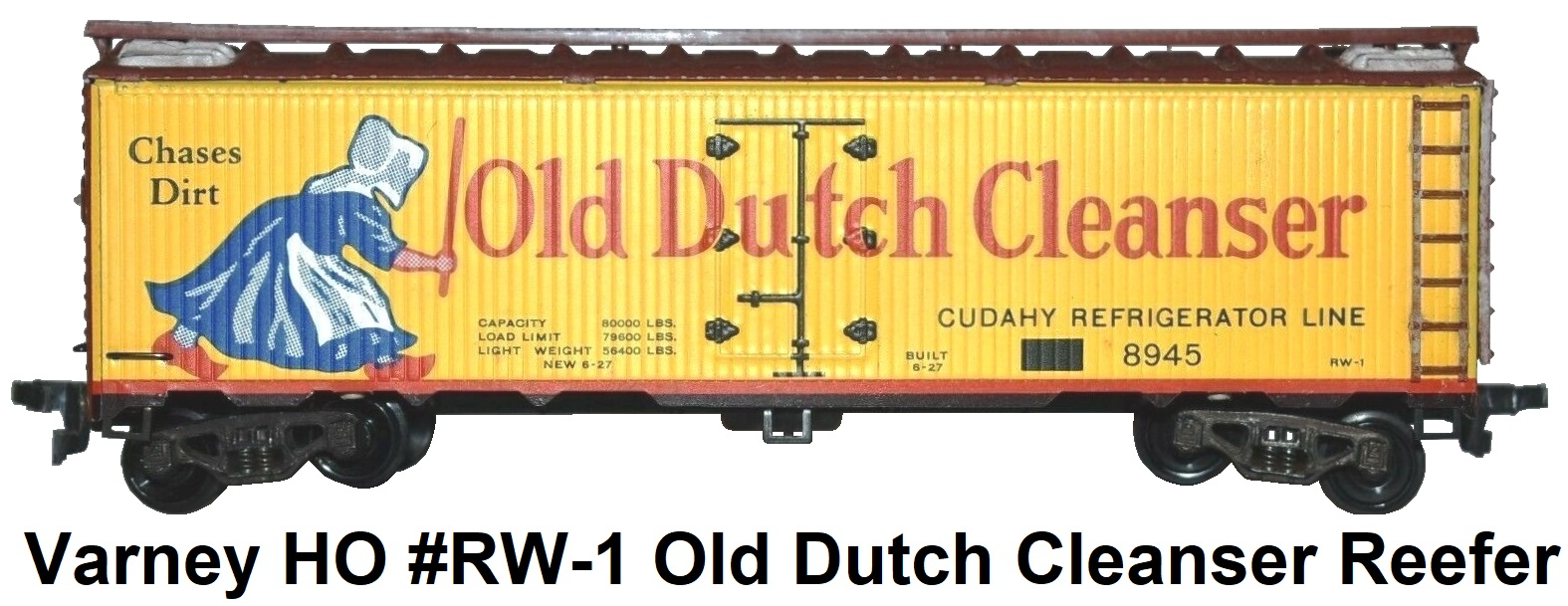 Varney HO #RW-1 Old Dutch Cleanser Woodside Billboard Reefer