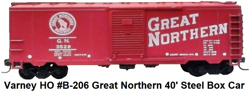 Varney HO #B-206 Great Northern 40' Steel Box Car