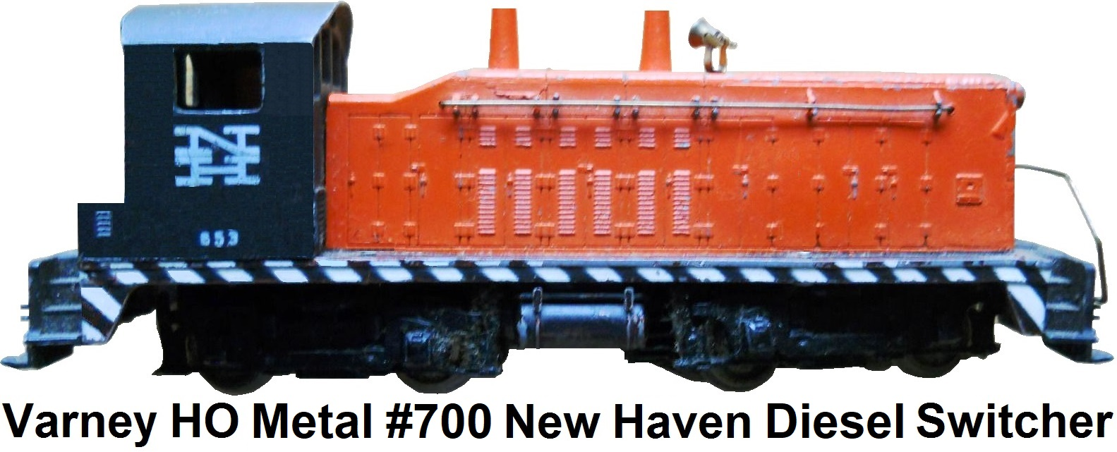Varney HO scale #653 metal New Haven Yard Switcher SW type loco