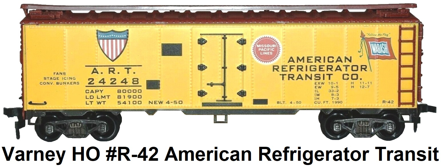 Varney HO Kit-built #R-42 ART American Refrigerator Transit 40' Steel Reefer car