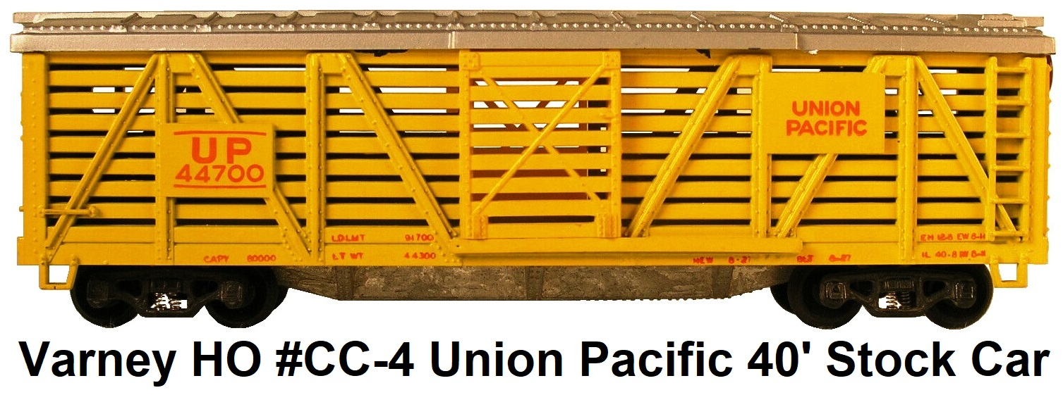Varney HO #CC-4 Union Pacific 40' Stock Car