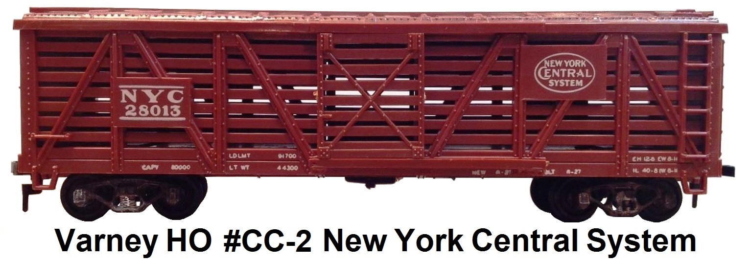 Varney HO #CC-2 40' New York Central System Livestock car