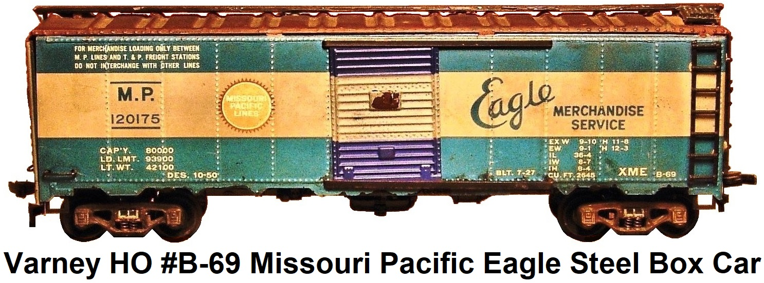 Varney HO #B-69 Missouri Pacific Eagle Merchandise Service 40' Steel Box Car