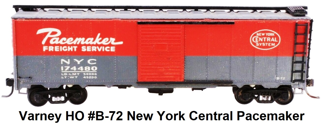Varney HO #B-72 New York Central Pacemaker Box Car Built Metal Kit