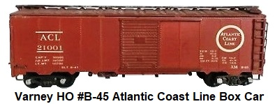 Varney HO #B-45 Atlantic Coast Line 40' Metal Box car