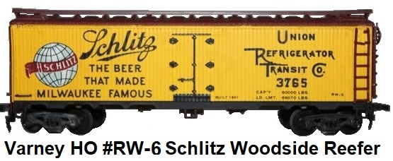 Varney HO #RW-6 Metal Schlitz Beer Woodside billboard Reefer kit