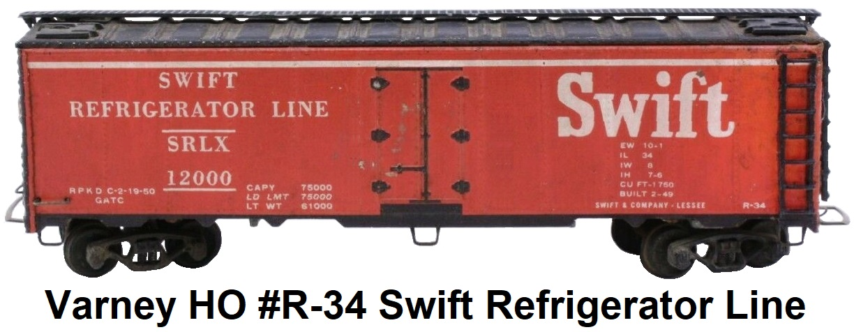 Varney HO #R-34 Swift Reefer craftsman kit
