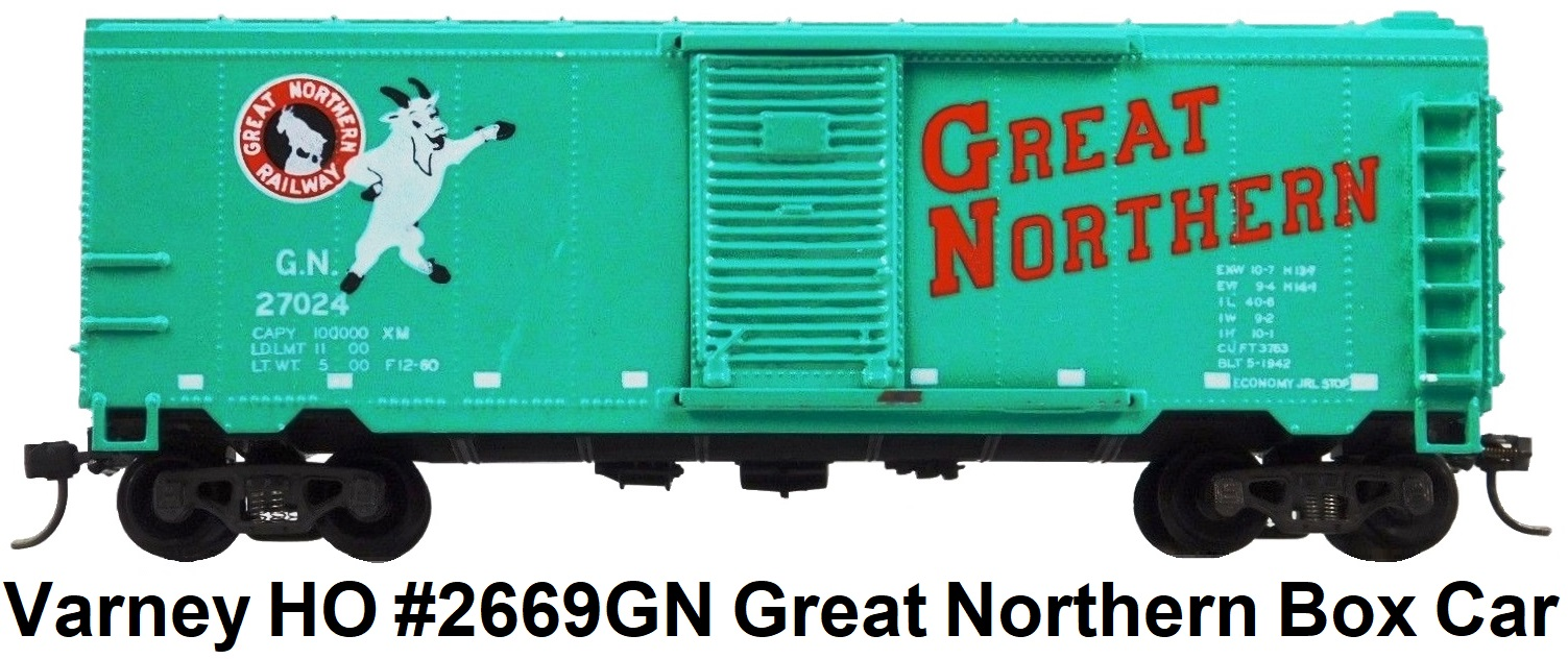 Varney HO #2669 GN Great Northern 40' Box Car #27024 RTR