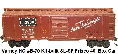 Varney HO #B-70 Metal SL-SF Frisco Box Car #17774